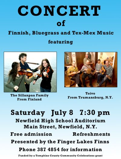 Poster from the Newfield Concert